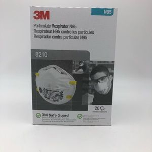 20- 3M N95 8210 Face Mask Particulate Respirator